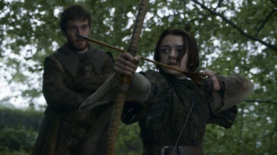 """Arya in Game of Thrones episode """"The Climb"""""""