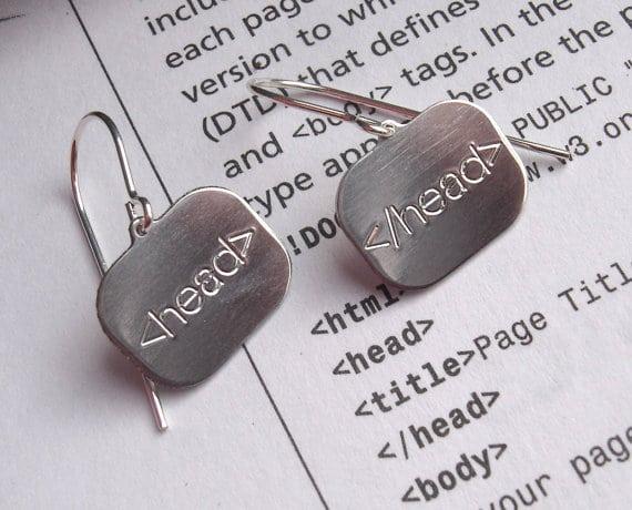 html-code-earrings